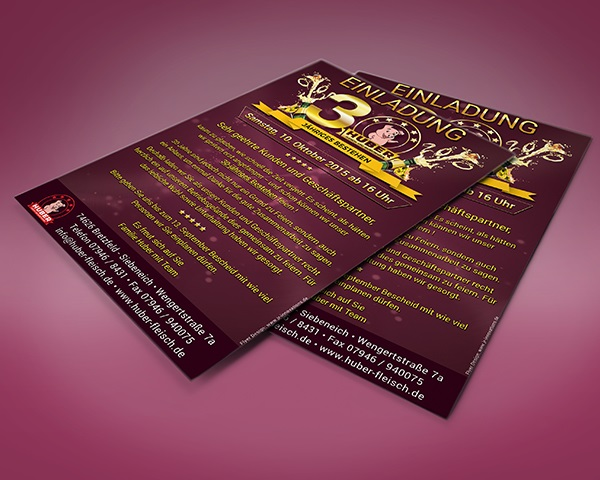 Flyer Design Huber Fleisch