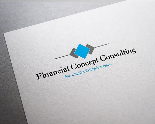 Logo Design Financial Concept Consulting