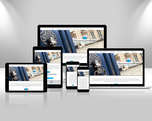Responsive Web Design Financial Concept Consulting