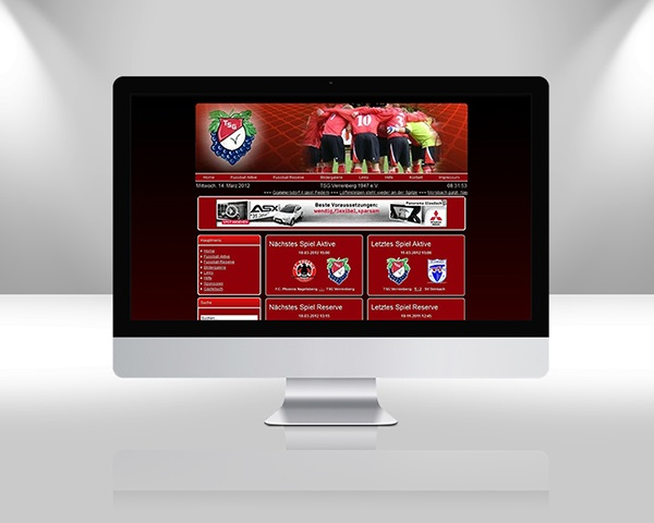 Web Design TSG Verrenberg Fussball