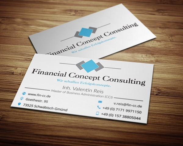 Visitenkarten Design Financial Concept Consulting